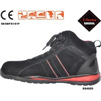 Sport style safety shoes with rubber outsole