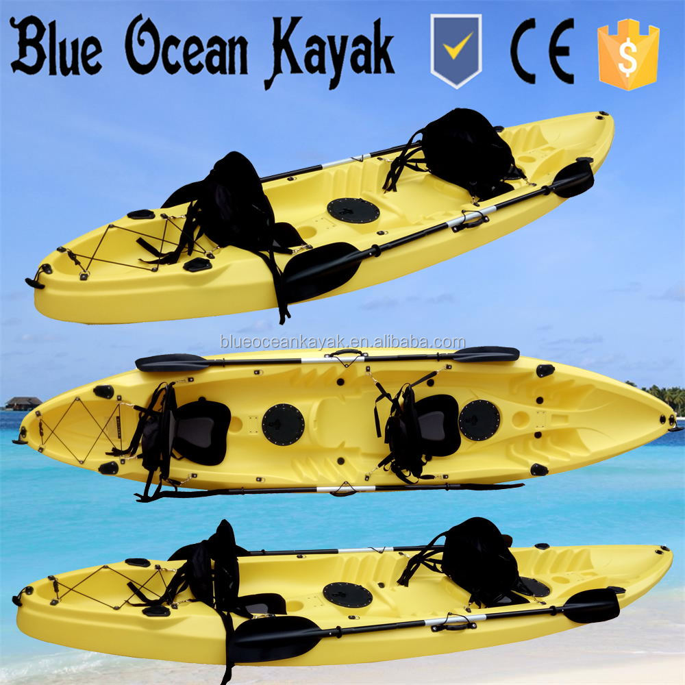 Blue Ocean summer professional three person kayak/fishing boat/sea canoe