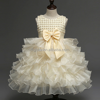 ruffle flower girl party wear different colors girl flower dress wedding party dress for kids