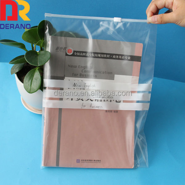 size a4 paper slider ziplock closure folders files poly bags