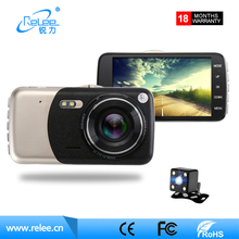 Professional front and rear view 2 camera motion detection full hd 1080p dual car camera