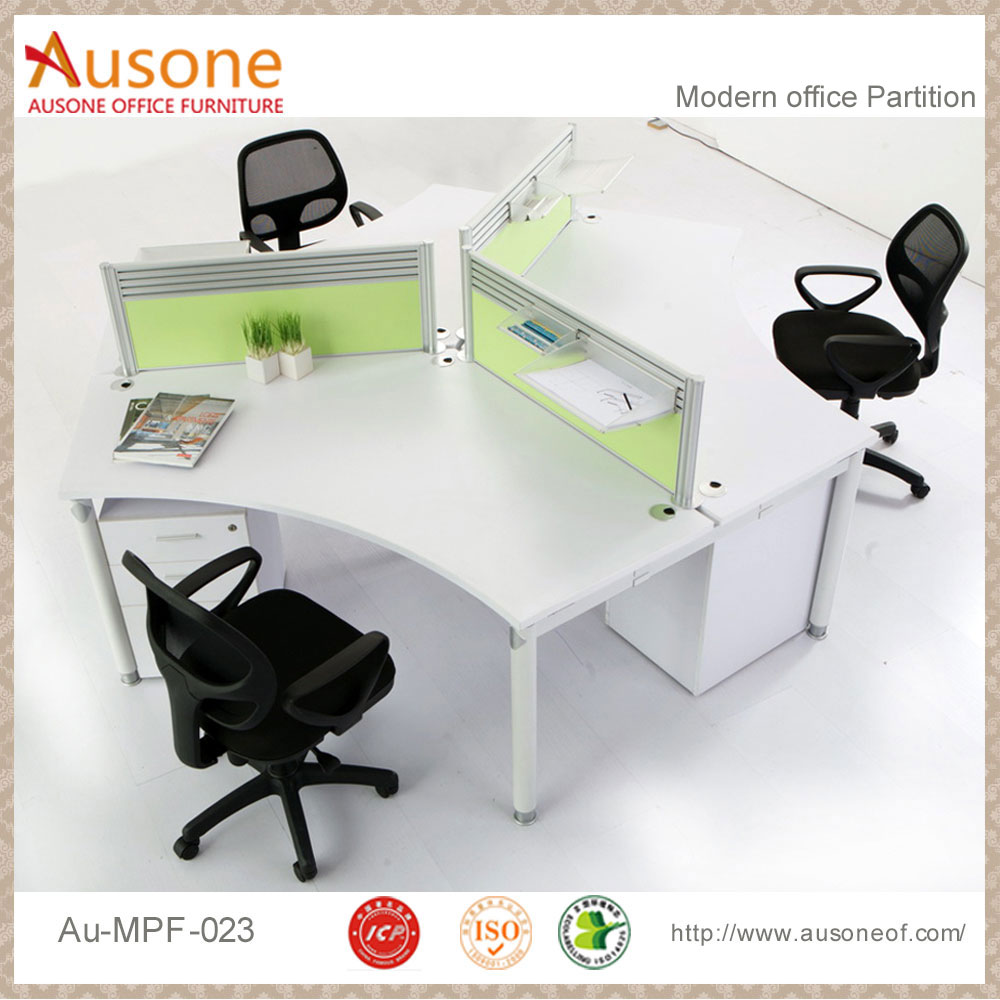 workstation for 3 person modular office desk white gloss - buy