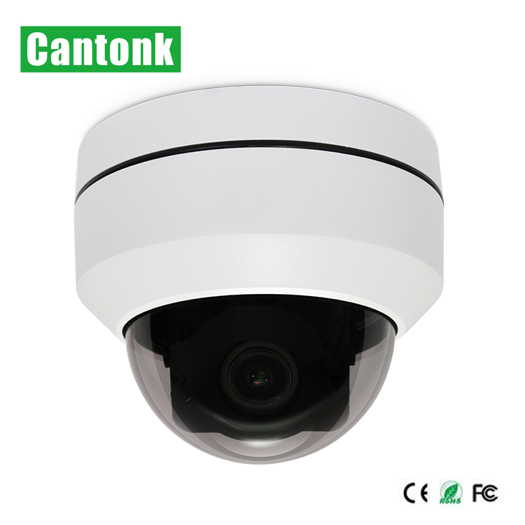 Mini IR High Speed Dome 4X Optical Zoom PTZ IP Camera 5MP with POE