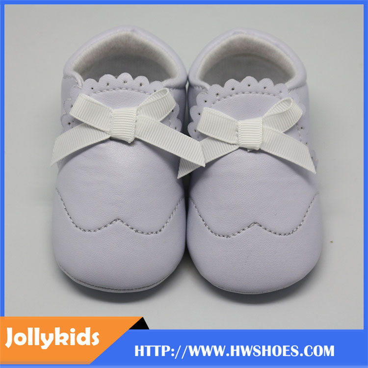 Simple Design White Newborn & Baby Girl Shoes