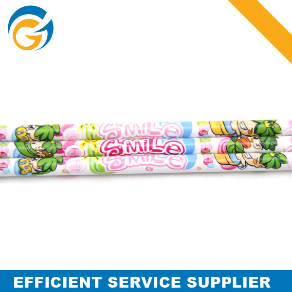 Customized Wooden Cartoon Pencil with Toppers