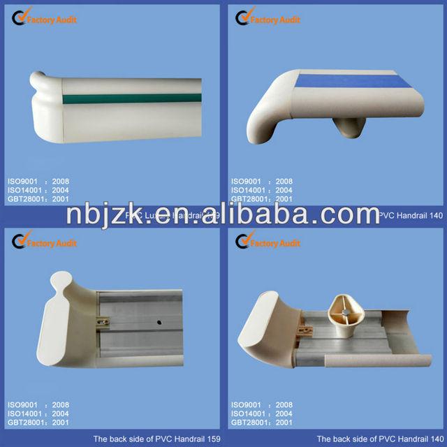 Original Manufacturer product Hospital Using Aluminum Handrail Wall Guard Pvc Handrail