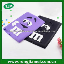 smart M&M silicone protecter covers/cases for ipad mini Rainbow bean