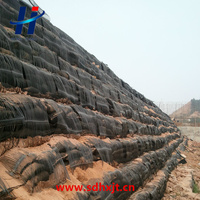 Uniaxial geogrid use in Retaining wall reinforcement