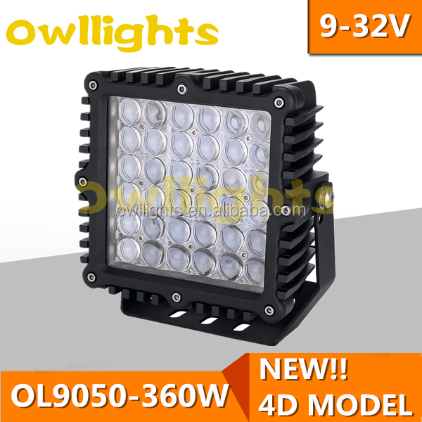New product Auto Car Tunning light 5 rows 9inch Long Distance 360w LED Dirivng light 4D Reflector 360w led light bar wholesaler