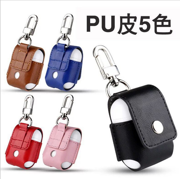 for AirPods Case PU leather Shock Proof Protective Cover for iphone AirPods strap