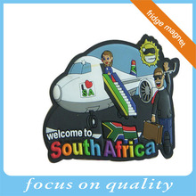 high quality customized 3d rubber pvc south africa promotion custom fridge magnet