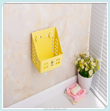 Bathroom plastic hanging shower caddy with suction cup