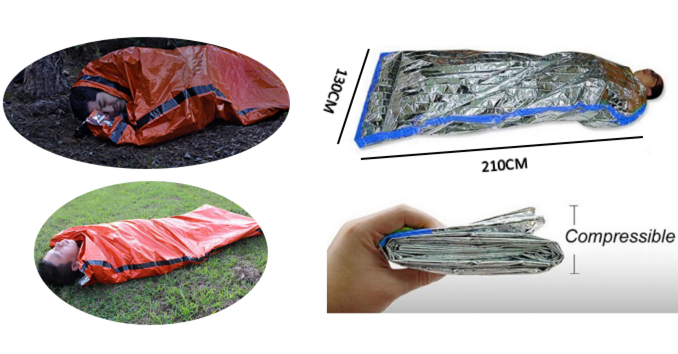 high quality Manufacturer hot selling Mylar Emergency Sleeping Bag