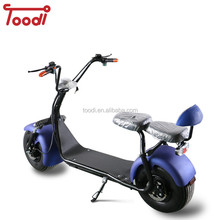 European warehouse 1000w mobility scooter electric citycoco double seat with ROHS Toodi