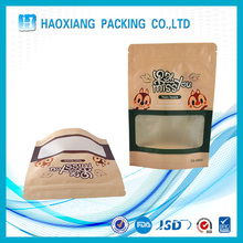 Custom Snack nuts dried food grade packaging Craft ziplock paper bag