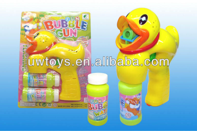 yellow duck bubble gun with music and light