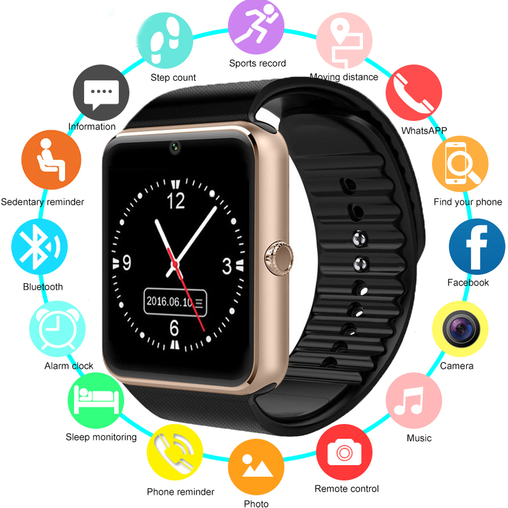 New Smartwatch Bluetooth Smart Watch GT08 For IPhone IOS Android Smart Phone Wear Clock Wearable Device Smartwach PK U8 DZ09 <strong>A1</strong>