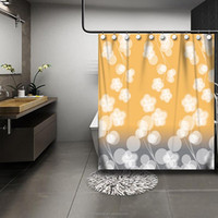orange shower curtain 2015 sheer curtains 100% polyester waterproof decorative floret curtains with metal eyelets