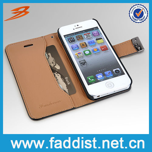 New Product Plain Genuine Leather Case for iphone 5s