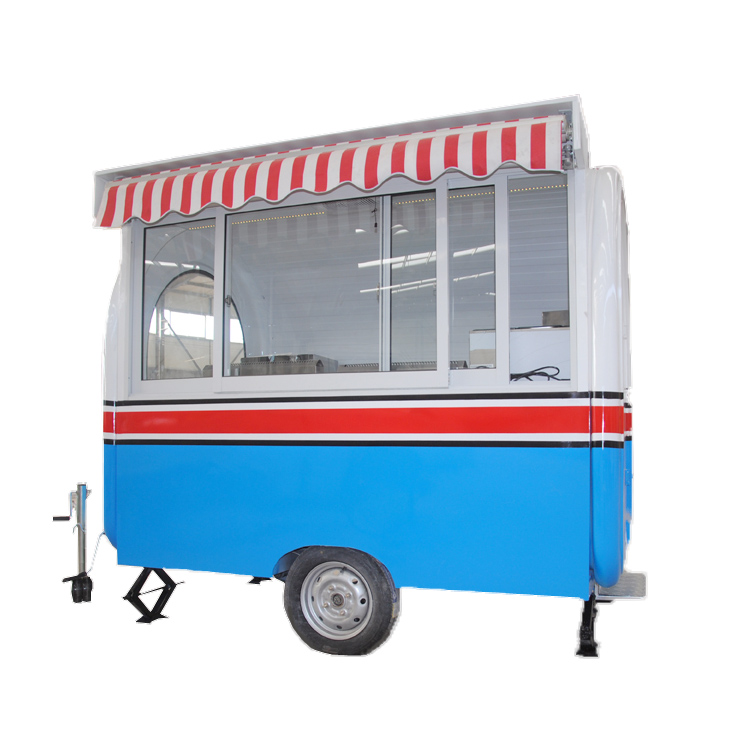 Coffee trailer hot dog truck churro equipped with machine and fryer