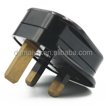 Hot UK 13A Plug Top Mains 13 AMP Black 3 Pin High Quality Electrical Fitting