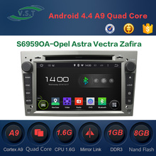 Android 4.4 dual-core car dvd player with BT/WIFI/RADIO/GPS for Opel Astra Vectra Zafira