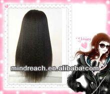 "Hot-selling wholesale price 14"" 2# yaki straight thin skin Chinese virgin hair full lace wigs, accept escrow payment"