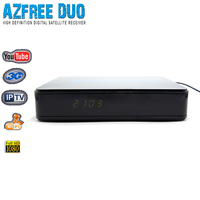 HD satelllite receptor de satellite DVB-S2 decodificador Azfree DUO with iptv,free iks sks for south america