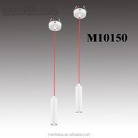 Restaurant White color smaller led tube hanging lighting lamps