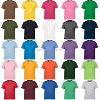 multiple colors plain t-shirts unisex 100 cotton promotional t shirt