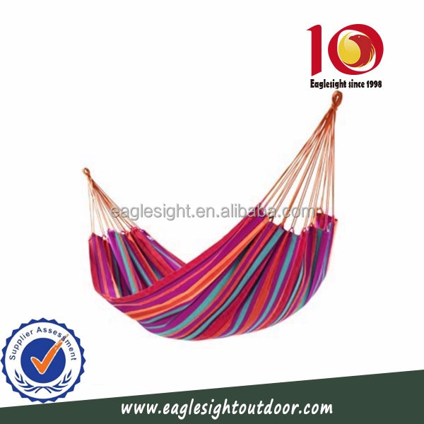 2017 New style outdoor or indoor durable single person hammock cotton and cotton hammock