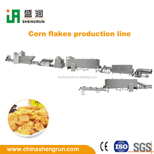 Self-clean breakfast corn flakes automatic production process