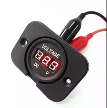 auto red /blue/green/orange DC digital 12v DC voltmeter with panel for car boat