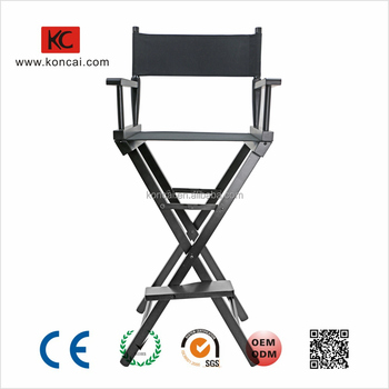 Foldable Wooden Armrest Aluminum Legs Director Relaxing Chair Loading 120Kgs
