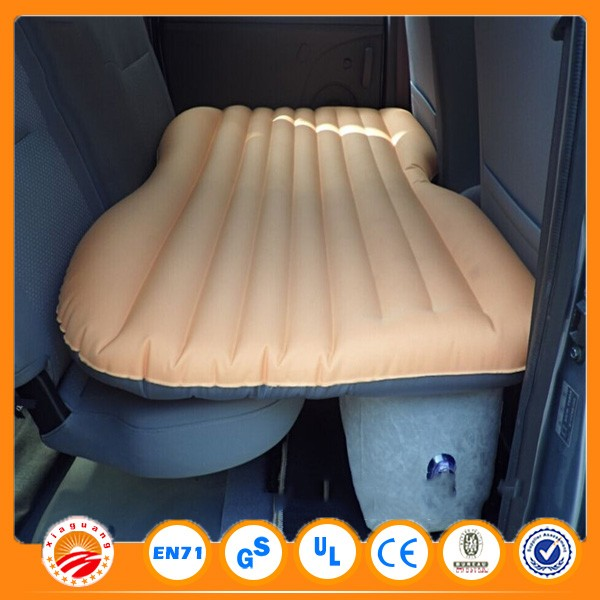 Portable PVC Flocked car travel air bed inflatable car bed for back seat