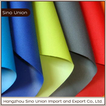 oxford material 100% polyester pvc pu coated fabric for luggage and bag