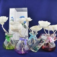 natural aluminum bottle for reed diffuser with candle gift set