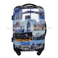 Printing Luggage ABS PC Luggage Trolley Bags