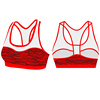 (Factory OEM/ODM) New Professional Running Wireless Sports Bra Women Strengthen The Front Bras Sexy Underw