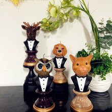 NEW design resin candlestick animal shape decorative wax Candle