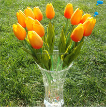 Hot sell high quality artificial single mini tulip PU tulips flowers