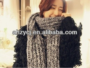 Fashion new lady scarf winter knitted thick wool scarves