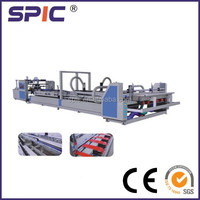 Automatic corrugated carton box folding gluing machine