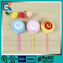Beautiful design wedding lollipop 100% cotton fabric cake towel