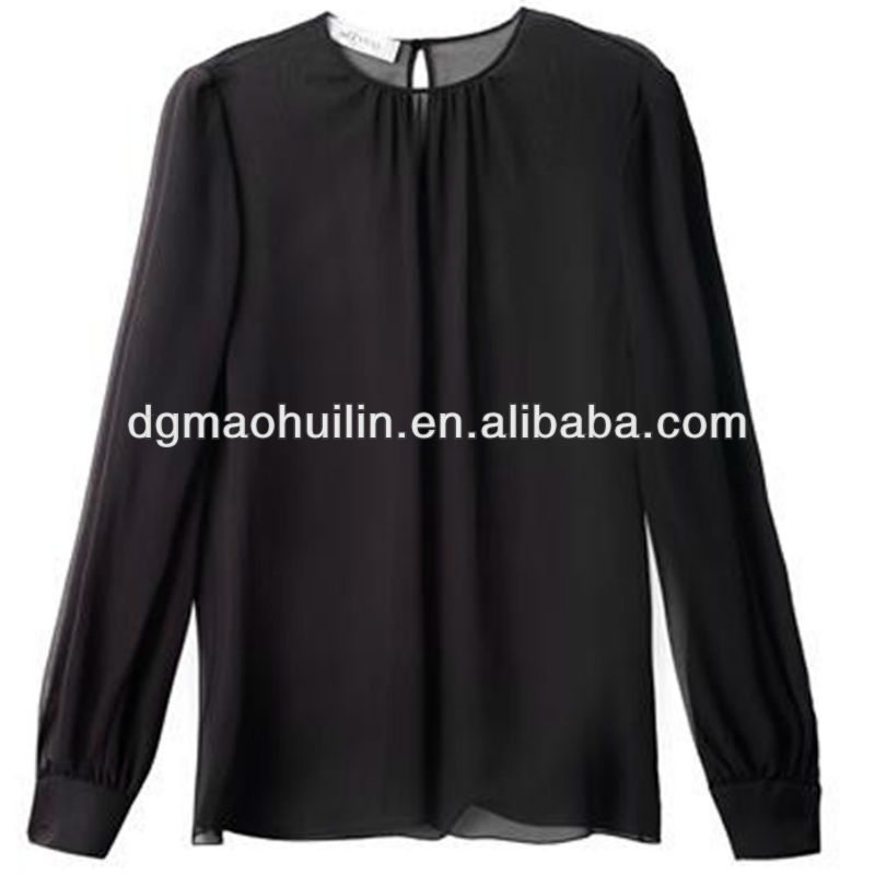 new design fat women chiffon blouse elegant ladies blouse