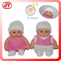 Wholesale 2014 new design 8.5 inch girl and boy full silicone reborn baby doll with 12 different IC sounds with EN71