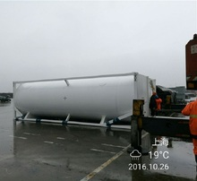 20ft vaporizer lng liquid ammonia gas tank factory prices iso vertical steel lng storage tank pump in tank