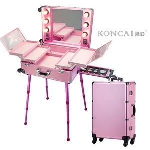 Rose gold Makeup Station Professional Makeup Kits Cosmetic Case
