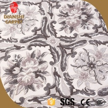 Hand Knitting Rectangle Living Room Flower Design Wool Carpets
