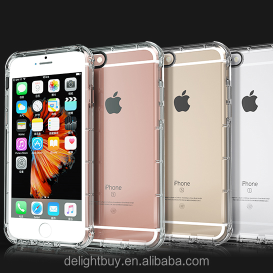 for iPhone 6 6s <strong>Case</strong>, for iPhone 6 Bumper Shockproof <strong>Case</strong> Anti-Scratch Back Cover for iPhone 6 4.7 Inch Shockproof Translucent